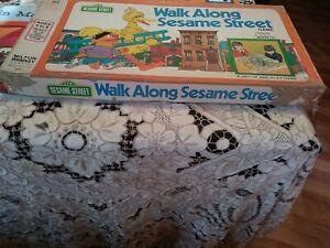 Walk Along Sesame Street Board Game 1975 Milton Bradley Big Bird Cookie Monster