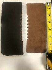 Genuine Brown Leather Repair Back (7 inches by 2 3/4 in wide)  pack of 5