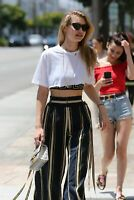 Gigi Hadid With Wide Striped Trousers 8x10 Picture Celebrity Print
