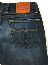 "Lucky Brand Jeans Lola Boot Cut Distressed Women's 2/26 Actual 28""x32"""