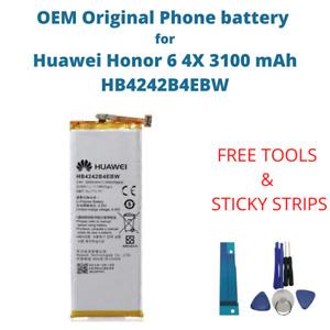 OEM Original Battery For Huawei Honor 6 4X 3100 mAh Capacity HB4242B4EBW Phone