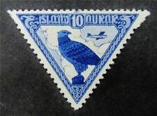 nystamps Iceland Stamp # C3 Mint OG H $30 F26y802