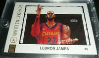 *RARE* Lebron James Written Legends artist signed #'d 6/25 NBA Champ PSA? Cavs