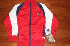ST. LOUIS CARDINALS FULL ZIP RED JACKET STITCHES GIRLS L SEWN NEW TAGS FREE SHIP