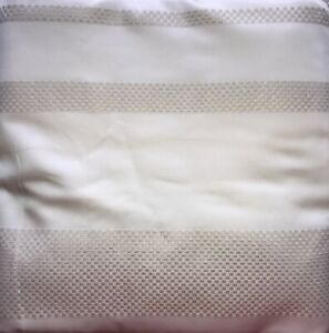 HOTEL COLLECTON WHITE KING DUVET WOVEN IVORY AND SILVER METALLIC EMBROIDERY NOOP