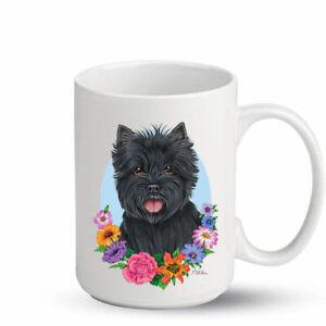 Cairn Terrier Black Ceramic 15oz Coffee Mug