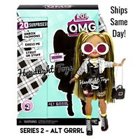 "1 Authentic LOL Surprise ALT GRRRL 10"" OMG Fashion Doll Series 2 Girl In Hand"
