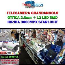 Novità 2018  TELECAMERA GRANDANGOLO OTTICA 2.8mm  HD-CVI/TVI 3.0 MPX
