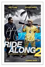 KEVIN HART & ICE CUBE RIDE ALONG 2 SIGNED PHOTO PRINT AUTOGRAPH