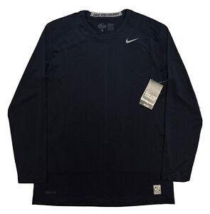 NWT! Nike PRO-Combat Fitted Base Layer Training Shirt  Men LG  Black
