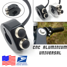 Black Aluminum Motorcycle Switch Self-Lock / Momentary Button 22mm Handlebar USA