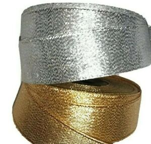 Berisfords Sparkly Lame Ribbon Gold Silver Christmas Tree Bow wreaths gift-wrap