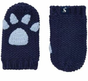 NWT Boutique Joules Navy Blue Baby Paws Mittens Size  6-12 / 12-24 Months