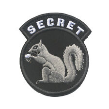 TOP SECRET SQUIRREL BLACK OPS Military Tactical Morale Army Hook Loop Patch