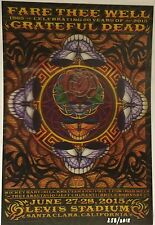 GRATEFUL DEAD 50TH SANTA CLARA LENTICULAR POSTER FARE THEE WELL PRINT EVERETT
