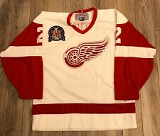 """VINTAGE CCM """"SLAVA"""" FETISOV DETROIT RED WINGS HOCKEY JERSEY LARGE 97 CUP PATCH"""