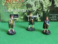 The Lord of the Rings - The HOBBITS - 3 Piece Hand Painted Pewter Figurine set.