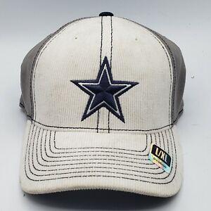 Dallas Cowboys Hat • Team Apparel Reebok • Size L/XL •White Cap • Corduroy