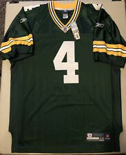 Authentic Green Bay Packers Brett Favre Reebok On Field Sewn Jersey Size 48 NWT