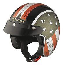 Held Black Bob Motorradhelm Größe: M (57/58) Flag Schwarz Jethelm + Sonnenvisier