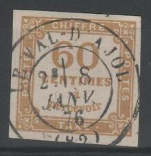 "FRANCE STAMP TIMBRE TAXE 8 "" CHIFFRE TAXE 60c JAUNE BISTRE "" OBLITERE TTB  P480"
