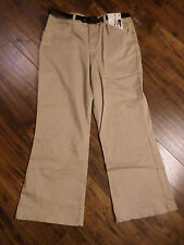 Womens WHITE STAG NEW WITH TAGS Tan Dress Pants 16w Petite  With Belt.