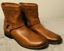 Frye Phillip Harness Brown/Cognac Short Boots Leather Size 8 New