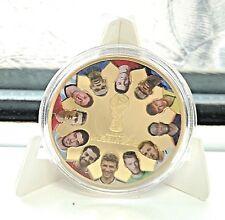 World Cup Russia 2018 Gold Coin Players Flag Ronaldo Neymar Zabivaka CCCP Stars