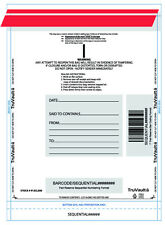 'A' Size - Tamper Evident Plastic Deposit Bags - Clear -100/pack