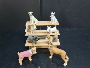 dolls house accessories 8 x  assorted dogs 1.12th Y1