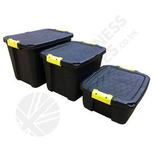 Strata Heavy Duty Storage Crates & Lids  24L 42L 60L - 75L & 145L have Wheels!