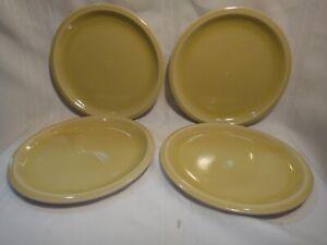 "Set of 4 Jars Williams Sonoma Cantine Yellow Gold 7-3/4"" Salad Plates New"