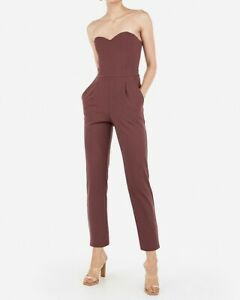 NEW EXPRESS WILD GINGER STRAPLESS SWEETHEART JUMPSUIT SZ 12