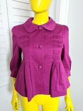 PRIORITIES Peplum Crop Coat & Sleeves and 3-Buttons Size S NWOT From Macy's