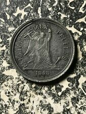 1848 France Exemple aux Peuples Medalet Lot#JM1535 ~28mm