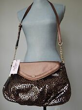 NEW JUICY COUTURE Copper Black Leopard JC Traveler Crossbody Handbag NWT $79
