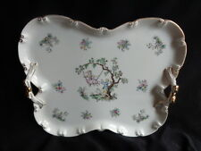 VINTAGE SHABBY & CHIC PORCELAIN VANITY TRAY-COURTING COUPLE