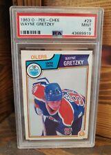 1983/84 OPC-Pee-Chee Wayne O Gretzky Edmond Oilers tarjeta #29 PSA 9 MINT!
