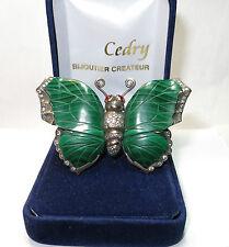Broche papillon en or blanc et argent