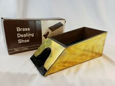 Vintage Casino Blackjack Dealer Shoe - 8 Deck - Brass - Rare in Original Box