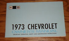 Original 1973 Chevrolet Full Size Car Owners Operators Manual 73 Chevy Impala