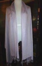 "Vintage Sabby Anand Lavender Pashmina & Silk 84"" x 38"" Wrap, 1 Owner, Ca. 1990's"