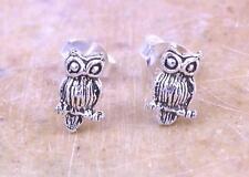 CUTE STERLING SILVER HOOT HOOT OWL STUD EARRINGS  style# st105