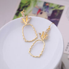 ed00173c 2018 New Items Irregular Gold Color Alloy Twisted Circle Drop Earrings