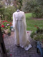 #Y Old Vintage 50-60's Ugly Victorian Wedding Dress Ghoul Zombie Bride Costume M