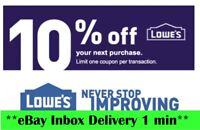 THREE 3X Lowes 10% OFF3Coupons-Instore Only-Very_FAST-SENT----~----------