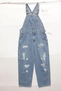 Salopette UNION BAY (Code S617) Taille M Jeans Utilisé Vintage Customized Rips
