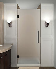 Aston Cascadia 32 x 72 Oil Rubbed Bronze Frosted Shower Door SDR995F-ORB-32-10