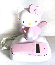 HELLO KITTY ANGEL IN CLOUDS LIGHT UP CORDED PHONE CALLER ID Untested
