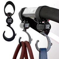 Buggy Hooks x2 - Large Pushchair Shopping Bag Hook - Mum Pram Handy Carry Clip